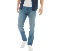 Denim Jeans in Slim Passform Gewaschtes Steingrau