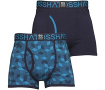 Qubeboid Zwei Pack Boxershorts in lose Passform