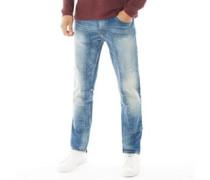 Jet Jeans in Slim Passform Verblasstes Denim
