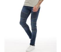 Stride Biker Jeans mit geradem Bein Dunkel