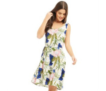 Nova Sarah Kleid ohne Ärmel Naturweiß