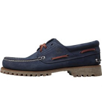 Mens Authentic 3 Eye Boat Shoes Navy