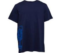 Large Logo line T-Shirt Dunkel