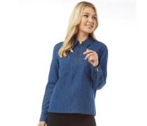 Alix Workwear Bluse mit langem Arm Denimmeliert