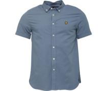 Multi Colour Running Stitch Hemd mit kurzem Arm Grau