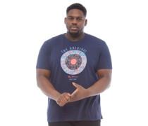 Übergröße Text Target T-Shirt Navy