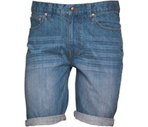 Denim Shorts Mittelblau