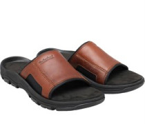 Mens Roslindale Slide Sandals Mid Brown