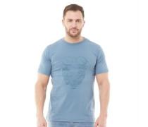Wild Man Of Mountain T-Shirt Blau