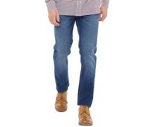 Denim Jeans mit geradem Bein Verblasstes