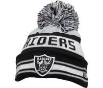 NFL Oakland Raiders Streifen Beanie Mütze Schwarz