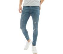 Distressed Skinny Jeans Mittel