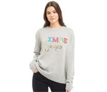 Weihnachten Pullover mit Rundhalsausschnitt Hell