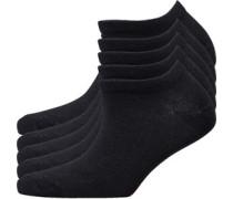 Fünf Pack Keine Show Socken Schwarz