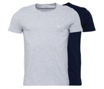 Zwei Pack T-Shirt Navy