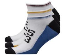 Vanton Drei Pack Sneaker Socken Weiß