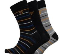 Marston Drei Pack Socken Schwarz