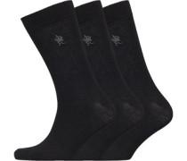 Drei Pack Socken Schwarz