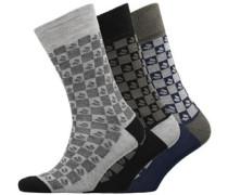 Drei Pack Socken Graumeliert