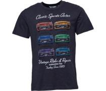 Surf Car Druck T-Shirt Anthrazitmeliert