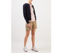 Shorts mit Umschlag Beige
