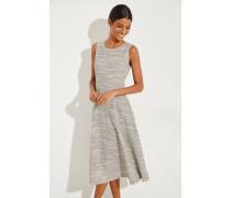 Baumwoll-Kleid mit Muster Beige/Schwarz