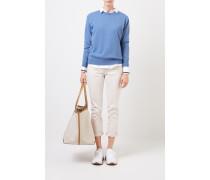 Klassischer Cashmere-Pullover Blau