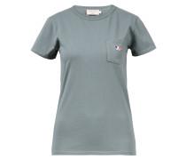 T-Shirt mit Tricolor Fox Patch Grün