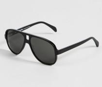 Sonnenbrille 'Hole' Schwarz - Leder