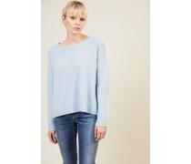 Cashmere-Pullover 'Chrispin' mit Bindedetail Hellblau - Cashmere