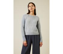Cropped-Pullover Blau