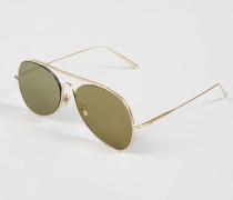 Sonnenbrille 'Spitfire L' Gold Satin/Gold - Leder