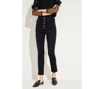 High Rise Jeans 'Olivia' Schwarz