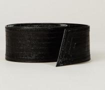 Breiter Ledergürtel Schwarz - Leder