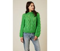 Cropped Mohair-Woll-Pullover 'The Juliard' Grün