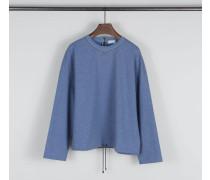 Baumwoll-Sweatshirt mit Perlendetails Denim
