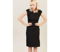 Kleid mit Raffung-Details 'Cap Slv Ruched Jersey Dress' Schwarz