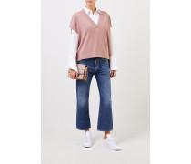 Seiden-Cashmere Pullover Puder