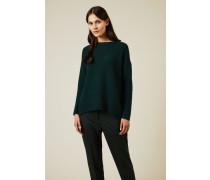 Woll-Seiden-Pullover Grün - Cashmere