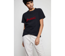 T-Shirt 'Fantastic' Washed Black - 100% Baumwolle
