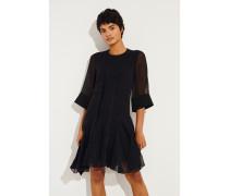 Semitransparentes Kleid mit Lace-Details Schwarz