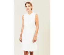 Tweed-Kleid mit Lurexdetails Weiß