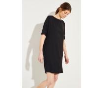 Kleid mit Perlenverzierung Schwarz
