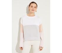 Cashmere-Pullover 'Maya' Rosé/Grau