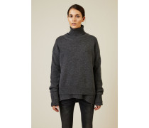 Woll-Cashmere-Pullover Anthrazit - Cashmere
