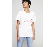 T-Shirt 'Fantastic' Crémweiß - 100% Baumwolle