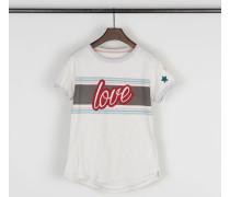 Baumwoll-Shirt mit Aufdruck Grau/Multi - 100% Baumwolle