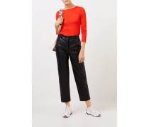 Woll-Longsleeve mit Detail Gipsy Rot