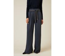 Hose mit elastischem Bund Blau