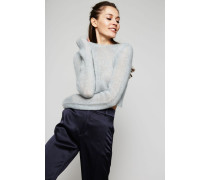 Cropped Pullover Hellblau